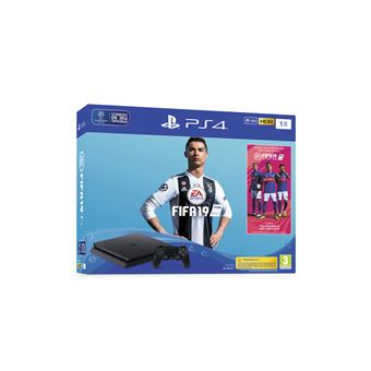 PS4 Slim 1 To noir + FIFA 19