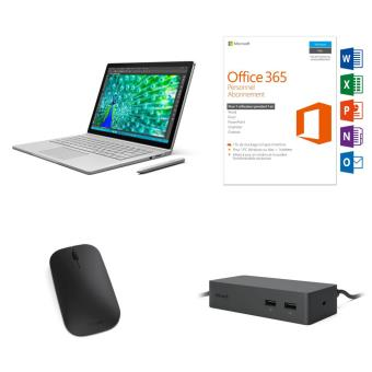 pack tablette pc microsoft surface book i5 256 go 13 5 office 365 personnel 1 pc windows mac. Black Bedroom Furniture Sets. Home Design Ideas