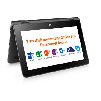 pc ultra portable hp stream x360 11 aa000nf 11 6 tactile ordinateur ultra portable. Black Bedroom Furniture Sets. Home Design Ideas