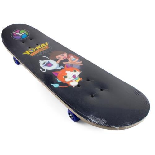 Skateboard aux couleurs des héros de Yo kai Watch Poids max : 50 kg Skateboard idéal pour les premières glisses Deck 9 couches en érable Dimensions du deck : 79 x 20 cm (31 x 8) Roues imprimées en PVC de 50 x 30 mm Roulements ABEC 5 Truck en aluminium Imp