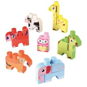 briques de construction ecoiffier maxi abrick bo te de 7 animaux autres jeux de construction. Black Bedroom Furniture Sets. Home Design Ideas