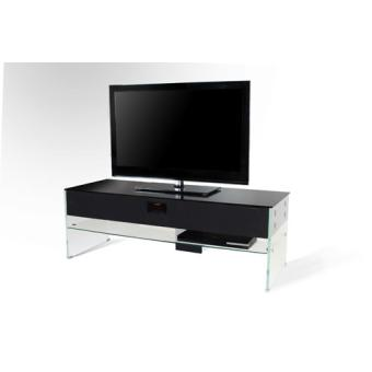 meuble tv nostone scala verre noir meuble tv hifi. Black Bedroom Furniture Sets. Home Design Ideas