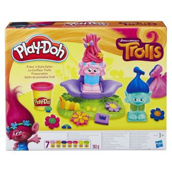 p te modeler le coiffeur trolls play doh p te modeler achat prix fnac. Black Bedroom Furniture Sets. Home Design Ideas