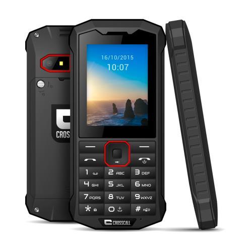 Téléphone mobile Croscall Spider-X4 Noir