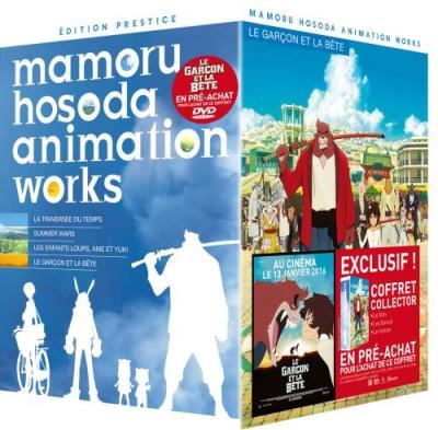 Coffret Mamoru Hosoda Animation works Edition Collector 4 films DVD