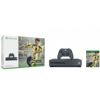 Console Xbox One S 500 Go Grise + FIFA 17