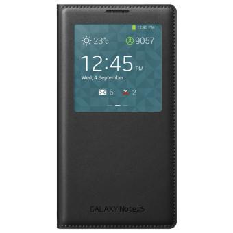 Etui Rabat a Zone Transparente Samsung pour Galaxy Note  N Noir w