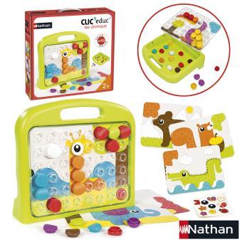 jeu ducatif clic 39 educ les animaux nathan jeu d couverte achat prix fnac. Black Bedroom Furniture Sets. Home Design Ideas