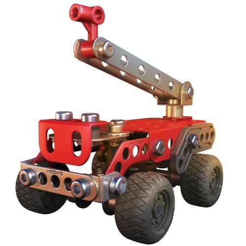 SECOURS - 3 MODELES Meccano : Tiens-toi prêt à devenir un véritable pompier et pars en intervention avec ce camion ! Amuse-toi également à construire d´autres engins et véhicules de secours! 3 modèles à construire. 87 pièces, outils et notice de montage i