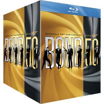 james bond james bond l 39 int grale 50 me anniversaire 23 films blu ray coffret dvd blu ray. Black Bedroom Furniture Sets. Home Design Ideas