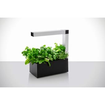 mini potager d 39 int rieur autonome tregren herbie led noir 6 plantes jardini res et bacs. Black Bedroom Furniture Sets. Home Design Ideas