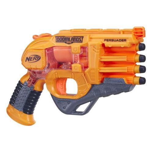 Deviens un héros post apocalytique ! Avec ton pistolet Persuader et à son corps transparent, tu peux voir le mécanisme de lancement des 4 fléchettes !