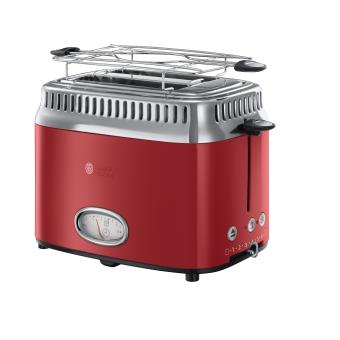 grille pain 2 fentes russell hobbs retro rouge achat. Black Bedroom Furniture Sets. Home Design Ideas