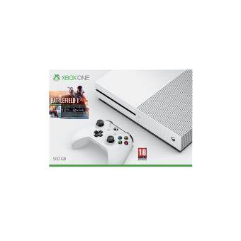 pack microsoft xbox one s battlefield 1 500 go console. Black Bedroom Furniture Sets. Home Design Ideas