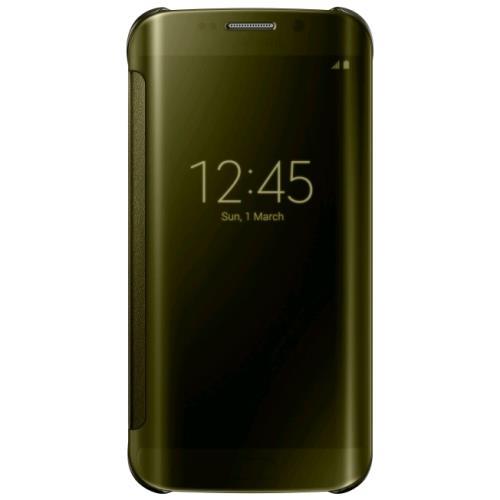 Etui Samsung Clear View pour Galaxy S Edge Or a