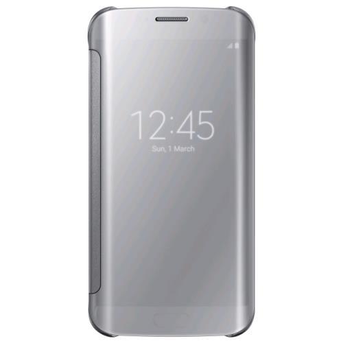 Etui Samsung Clear View pour Galaxy S Edge Argent a