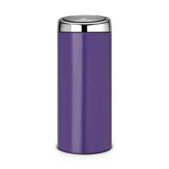 poubelle touch bin brabantia 484704 30l acier violet achat prix fnac. Black Bedroom Furniture Sets. Home Design Ideas