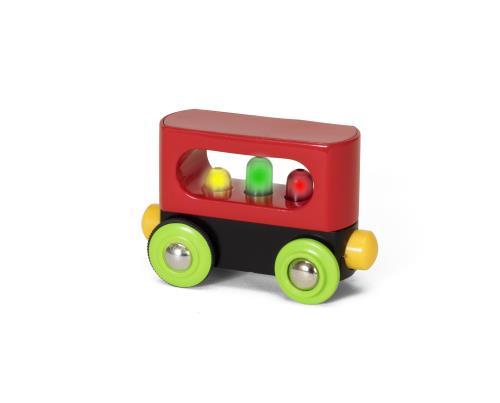 Un wagon magique doté de composants électroniques sûrs qui s´activent pendant le jeu. Les lumières clignotantes à l´intérieur du wagon se déclenchent dès que le train commence à bouger. Passionnant mais aussi mystérieux si vous observez le wagon avancer d