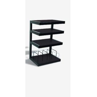 support hifi norstone esse vinyl noir meuble tv hifi. Black Bedroom Furniture Sets. Home Design Ideas