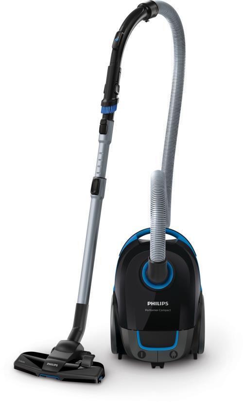 Aspirateur avec sac Philips Performer Compact FC8371/09 750 W 3 L Noir intense
