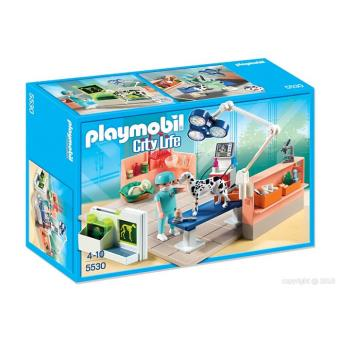 Playmobil city life 5530 chirurgien v t rinaire et salle d for Salle a manger playmobil city life