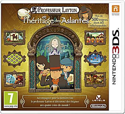Professeur Layton et l'Héritage des Aslantes 3DS - Nintendo 3DS