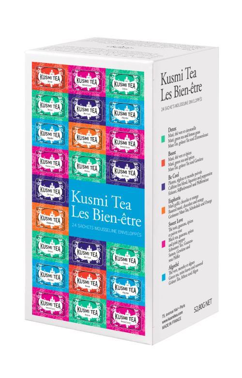 Image du produit Les Bien-être Kusmi Tea Étui de 24 sachets mousseline enveloppés