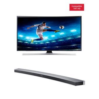 tv samsung ue65js8500 suhd 4k 3d incurv barre de son hw. Black Bedroom Furniture Sets. Home Design Ideas