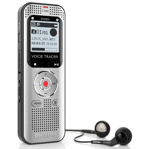 Dictaphone Philips DVT2000, 4 Go, Port USB, Carte mémoire, Radio FM, Lecteur MP3