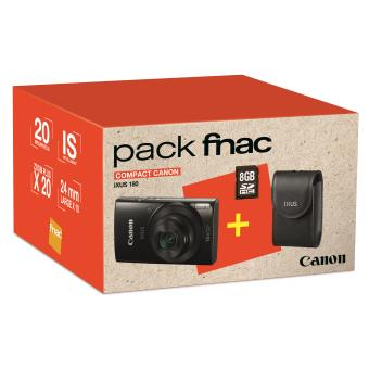 Pack fnac compact canon ixus 180 noir etui carte sd for Appareil photo ecran 180