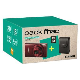 pack fnac compact canon ixus 180 rouge etui carte sd. Black Bedroom Furniture Sets. Home Design Ideas
