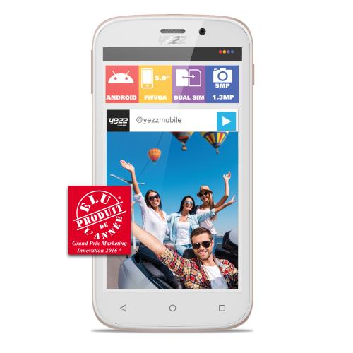 Smartphone Yezz Andy A5EI3 Double SIM Or