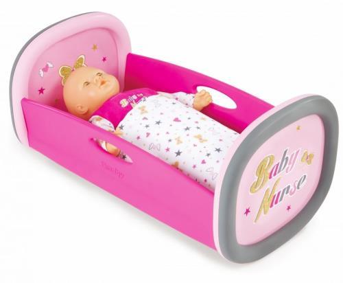 Le lit à bascule Baby Nurse est parfaitement adapté pour bercer tendrement tous les poupons jusqu´à 42 cm. Poupon non inclus.