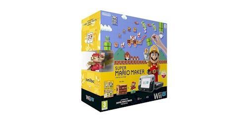 Pack Console Nintendo Wii U Noir Super Mario Maker Figurine Amiibo Mario Anniversaire