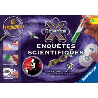 science x enqu tes scientifiques ravensburger jeux scientifiques achat prix fnac. Black Bedroom Furniture Sets. Home Design Ideas