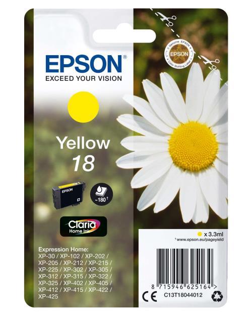 Cartouche Epson T1804 Série Pâquerette Jaune