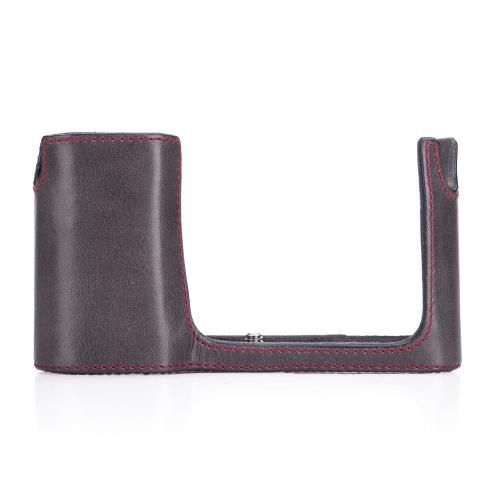 Housse de protection en cuir Stone Grey pour caméra Leica