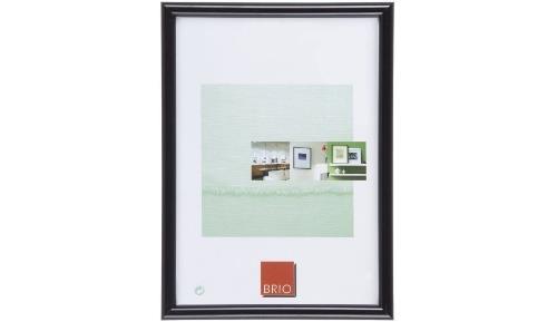 Cadre photo bois Brio Gallery 60x80 cm noir