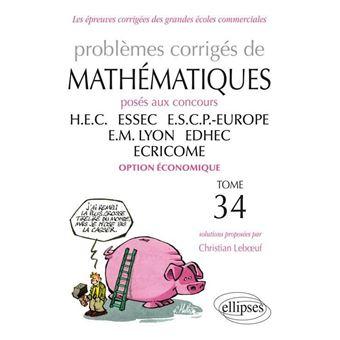 Mathématiques HEC 2012-2013 : option économique
