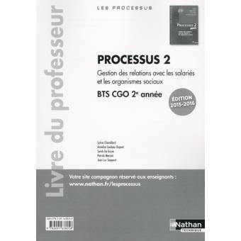 Processus 2 BTS 2 CGO (Les Processus) Professeur -2015