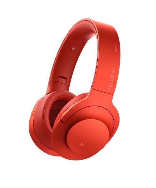Sony MDR100ABN h.ear on Casque à réduction de bruit Rouge