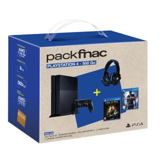 Pack Fnac Console Sony PS4 500 Go + Deus Ex Mankind Divided + Uncharted 4 + Casque
