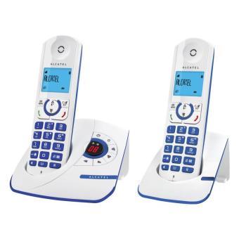 t l phone alcatel f330 voice duo bleu t l phone sans fil num rique avec r pondeur achat au. Black Bedroom Furniture Sets. Home Design Ideas
