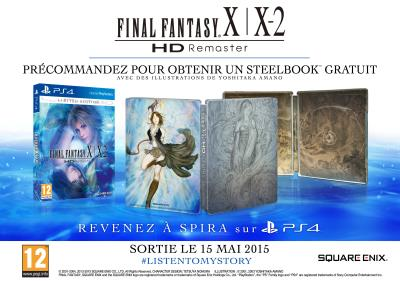 Final Fantasy X/X2 HD Remaster Steelbook PS4 - PlayStation 4