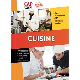 CUISINE - CAP Cuisine 1ère et 2ème années Elève 2017