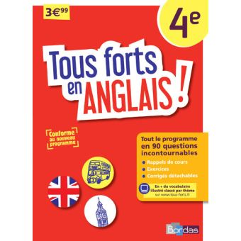 tous forts en anglais 4 me programme 2016 broch collectif achat livre achat prix fnac. Black Bedroom Furniture Sets. Home Design Ideas