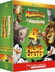 L'intégrale Madagascar + Les Pingouins de Madagascar - Coffret Fnac 4 Blu Ray (Blu-Ray)
