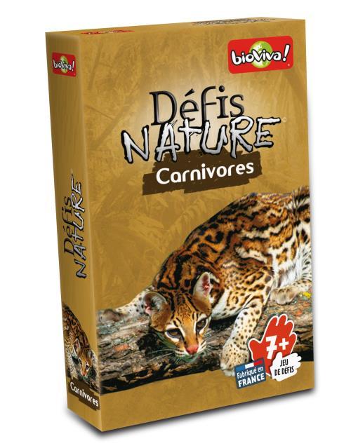 Défis Nature vous emmène à la rencontre des carnivores les plus surprenants de notre planète. Au travers de cartes superbement illustrées découvrez les particularités des espèces animales les plus répandues comme les plus menacées, puis pariez sur les poi