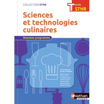 Sciences et technologies culinaires Term STHR