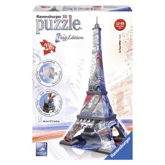 puzzle 3d 216 pi ces tour eiffel flag ravensburger puzzle 3d. Black Bedroom Furniture Sets. Home Design Ideas
